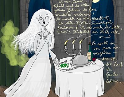 Die weiße Frau und grüne Bohnen
