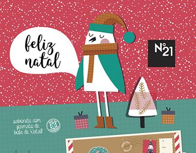 Nº21 Embalagem promocional de natal