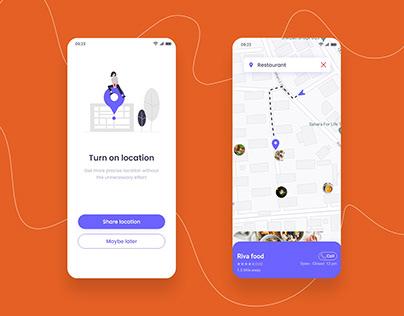 Location Tracker Food App UI Design