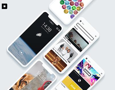 DISCOVER -Lockscreen for new inspirations APP UI/UX
