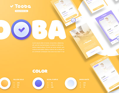 Tooba - mobile charity application design, an example