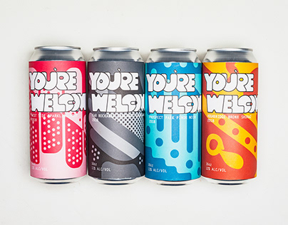 You're Welcome - Canned Wine Branding