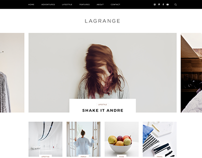 LaGrange - Blog PSD Template