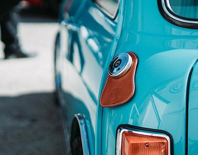 Personalized Leather Fuel Bib for Classic Mini