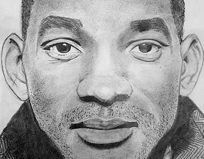 pencil sketch of will smith