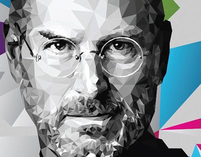 Steve Jobs Low Poly Illustration