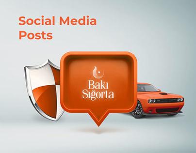"""""""Bakı Sığorta"""" Social Media Posts"""