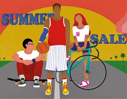 Sport shop illustration