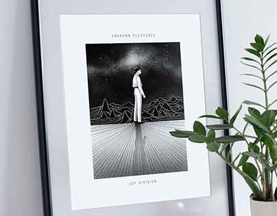 Unknown Pleasures' Joy Division 40th anniversary poster