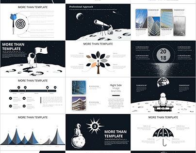 Best annual report black PowerPoint templates