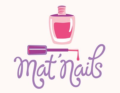 Mat'Nails logotype, Lettering