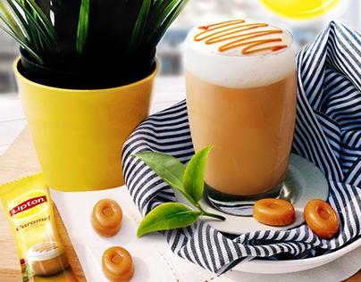 Lipton Milk Tea Latte Visual Assets