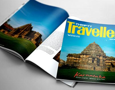 Magazine design- THRIFTY TRAVELLER