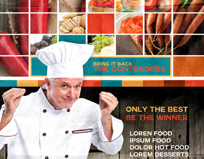 Latino Food Contest Poster Template