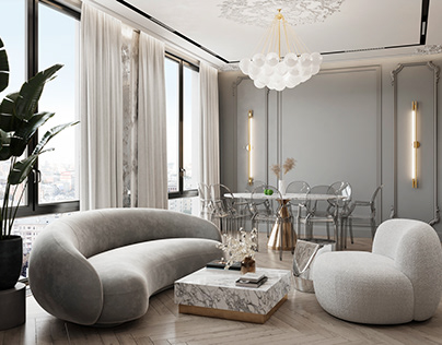 Fashionable apartment in Moscow