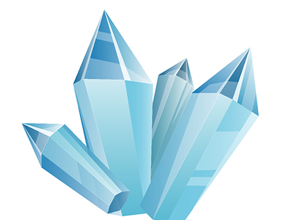 Ice and crystals vector set