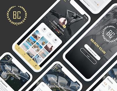 Beach Club - App UX/UI Design