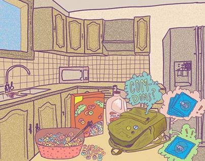 editorial illustrations for ALMA
