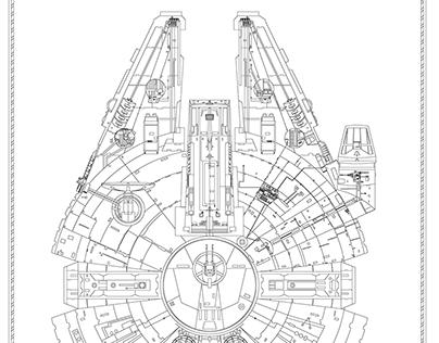 Millennium Falcon (AutoCAD)- IN PROGRESS- 11.01.2016