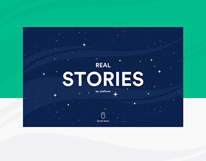 Real User Stories by JotForm-Concept Design