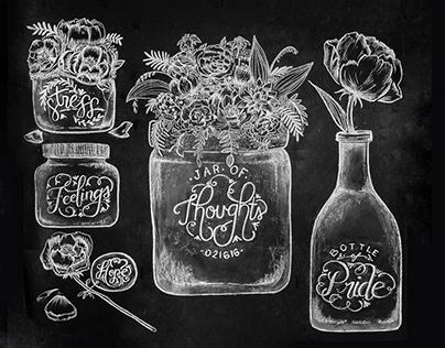 Chalkboard: Fragments & Fleurs