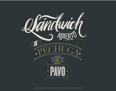 Lettering for a bakery brand