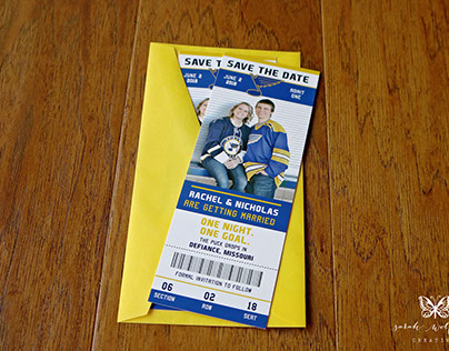 Hockey Ticket Save The Dates