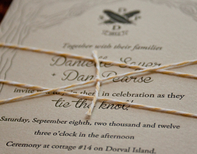 Danielle & Dan's Wedding Invitation