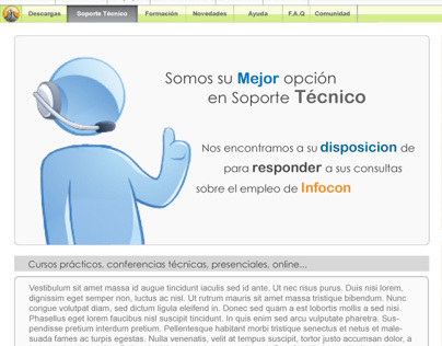 Interface Design website Softlatin Infocon