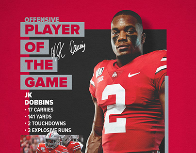 Ohio State Football   Player of the Game Graphics