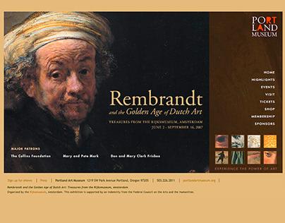 Rembrandt Special Exhibition Microsite