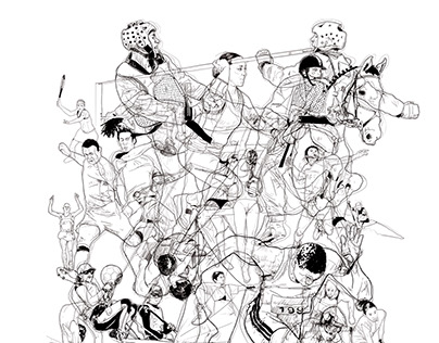 Olympic games sports illustrations