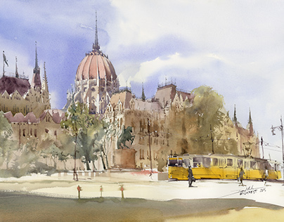 Passionate plein air paintings from Budapest