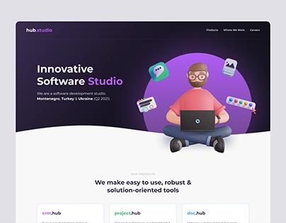 Hub Studio Landing Page