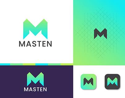 m modern letter logo branding
