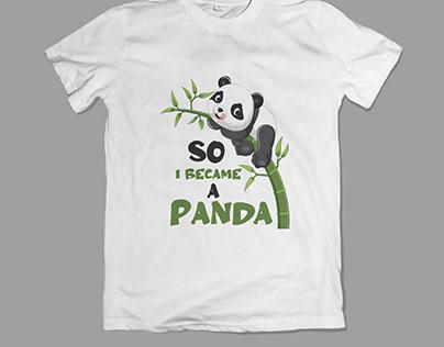 Panda t shirt design