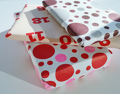 Risograph wrapping paper