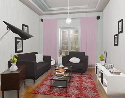 Modelling & Rendering 3D - Living Room