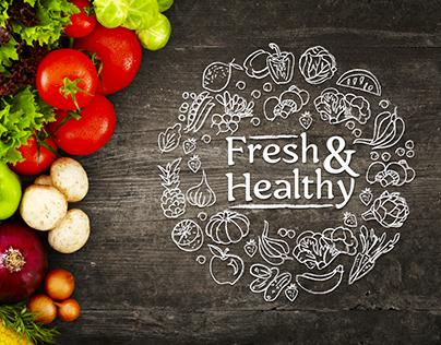 Fresh&Healthy - Logo and Identity