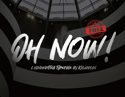 Free Oh Now! Handwritten Font