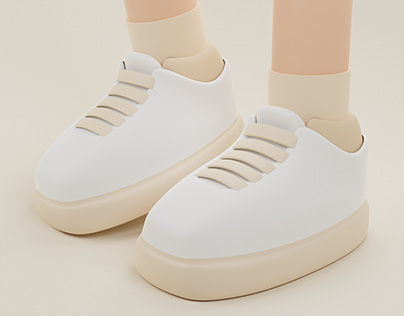 Classic Sneakers | 3D Illustration