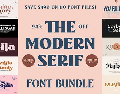 THE MODERN SERIF FONT BUNDLE - 94% OFF!