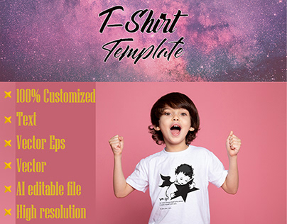 child with star ( t shirt template )