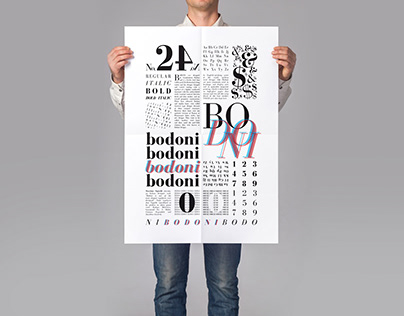 Bodoni Typeface Poster - 2017