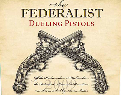 The Federalist Dueling Pistols rendered by Steven Noble