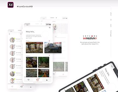 Adobe XD Contest Explore Bangaluru - #IconContestXD