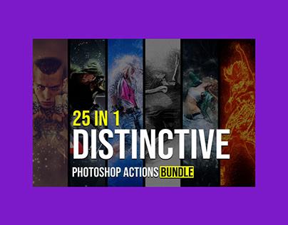 25 in 1 Distinctive Photoshop Actions Bundle