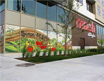 Supermarket Mural Illustration