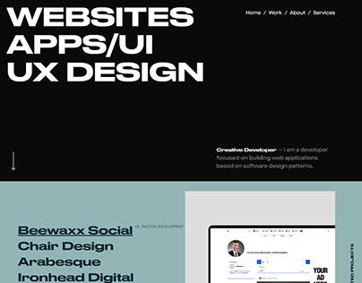 UX UI Designer Website