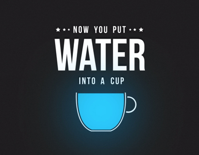 Be Water - Kinetic Typography on Behance